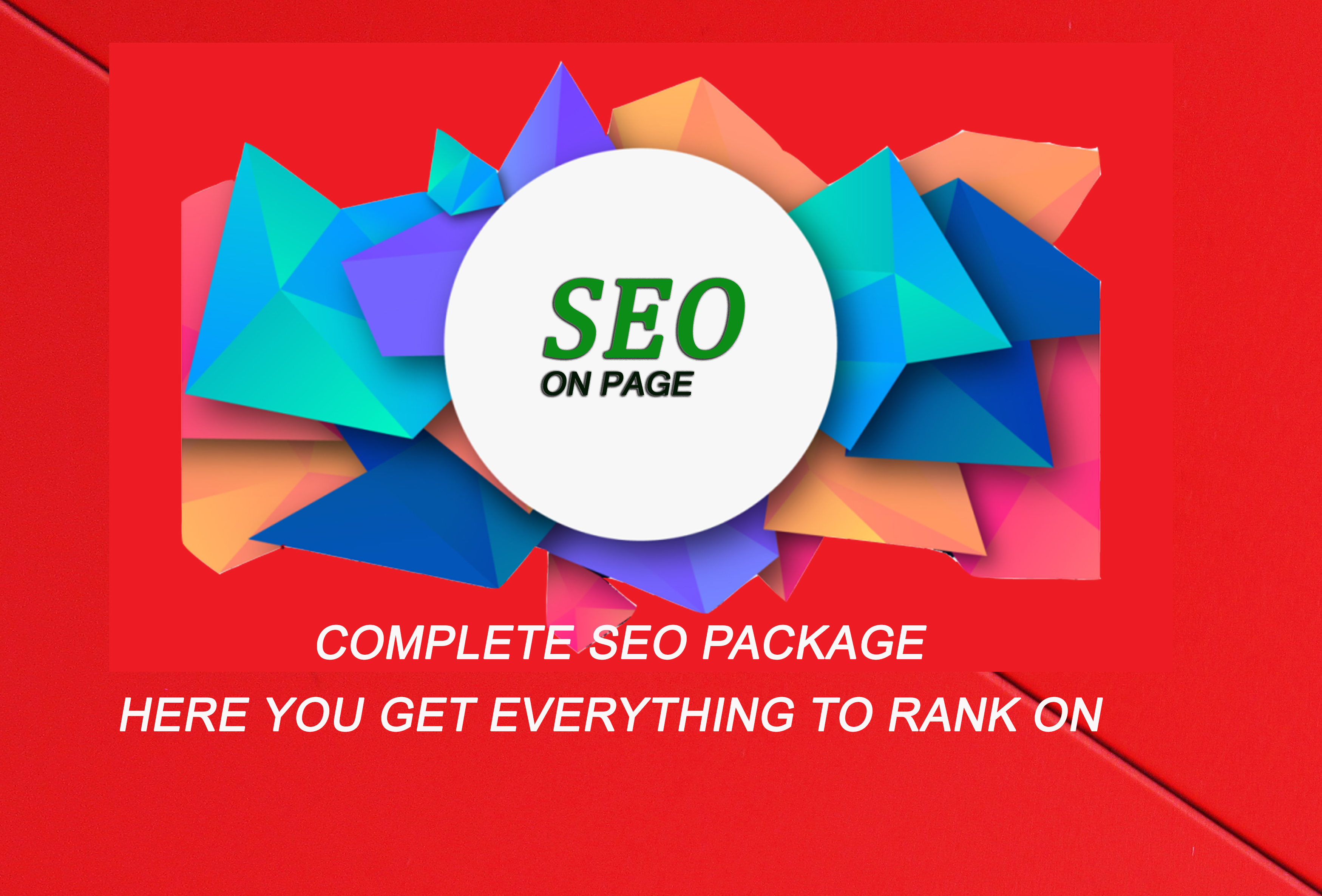 Complete On-page SEO package service