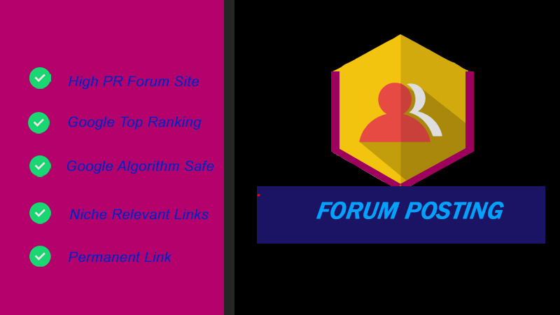 25 Niche Relevant Forum Posting Backlink