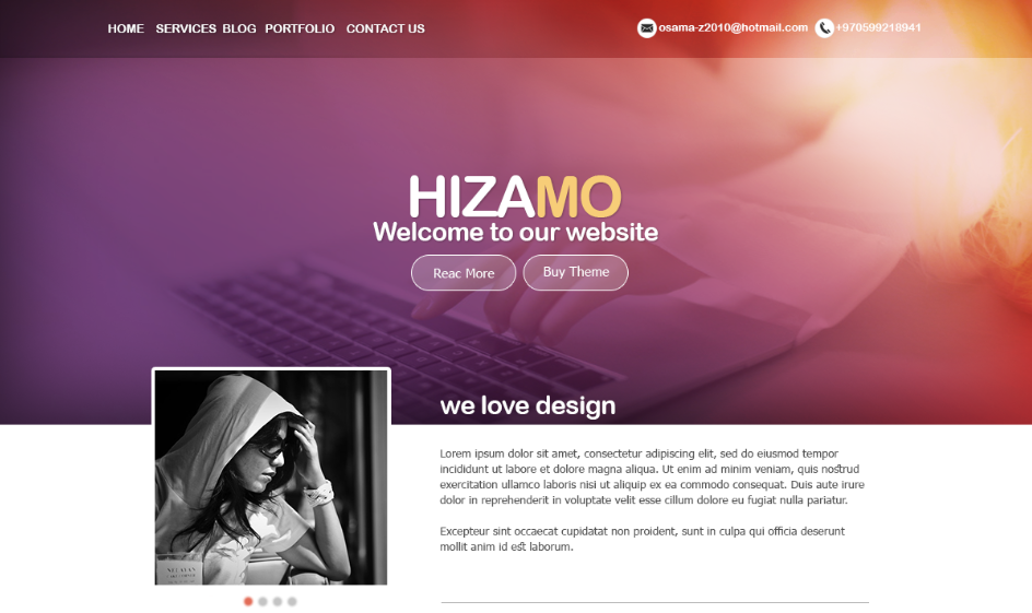 Great and distinctive Landing Page design - PSD