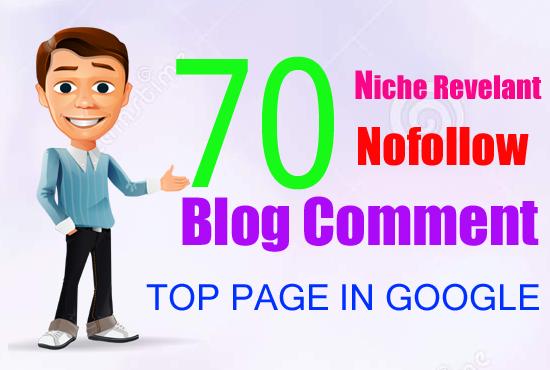 I Will Provide a 70 Relevant Niche Blog Comment