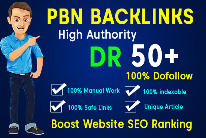 I will skyrocket your website with 100 PBN DR 40 to 50+ seo dofollow backlinks