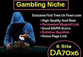 60 CASINO/POKER Gambling,  Judi Bola,  Google 1st Page Ranking & Relate PBN Backlink with BLOG POST