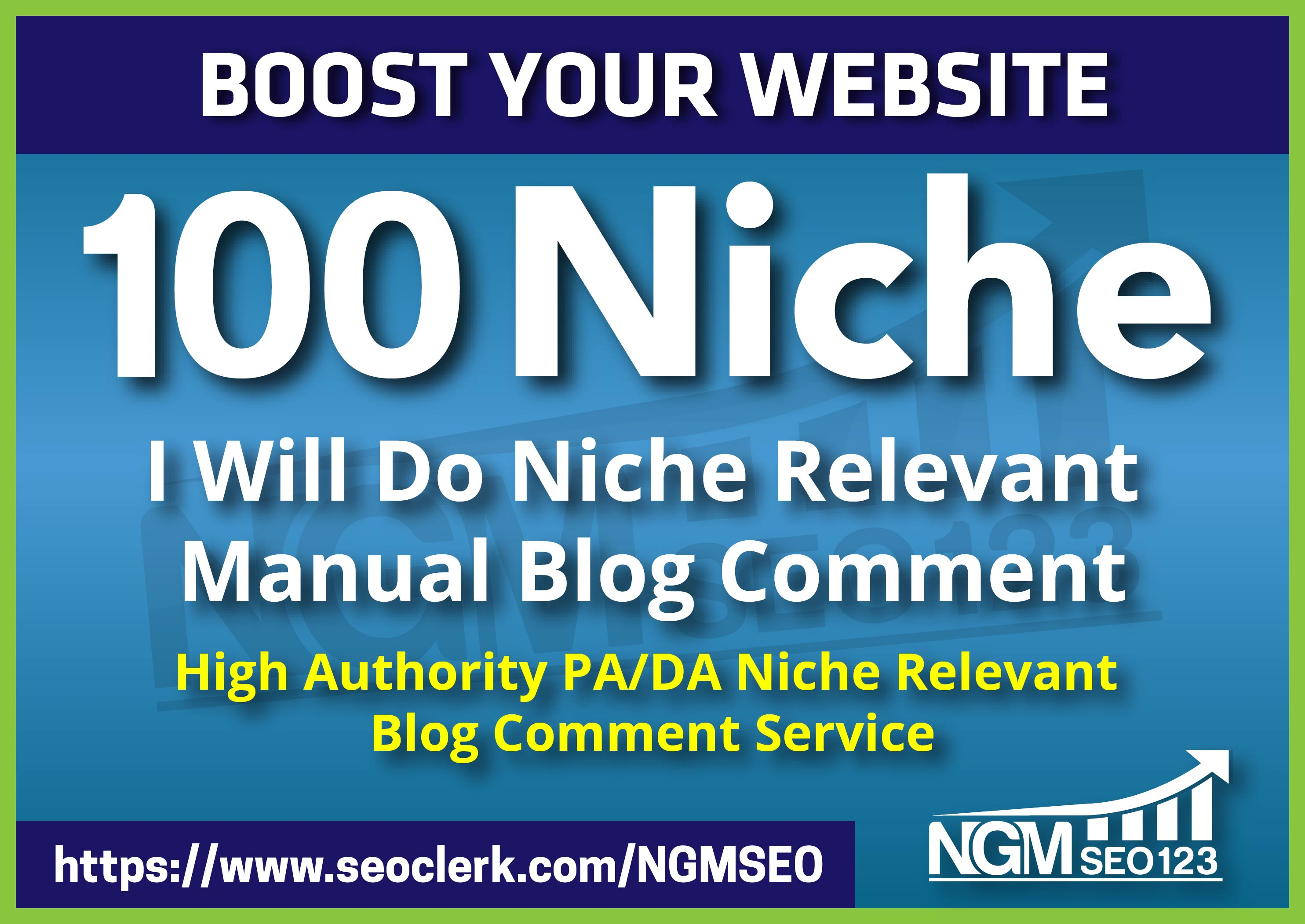 100 Niche Relevant Blog Comment Backlink seo