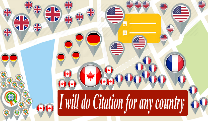I will do top 100 local SEO citations for any country