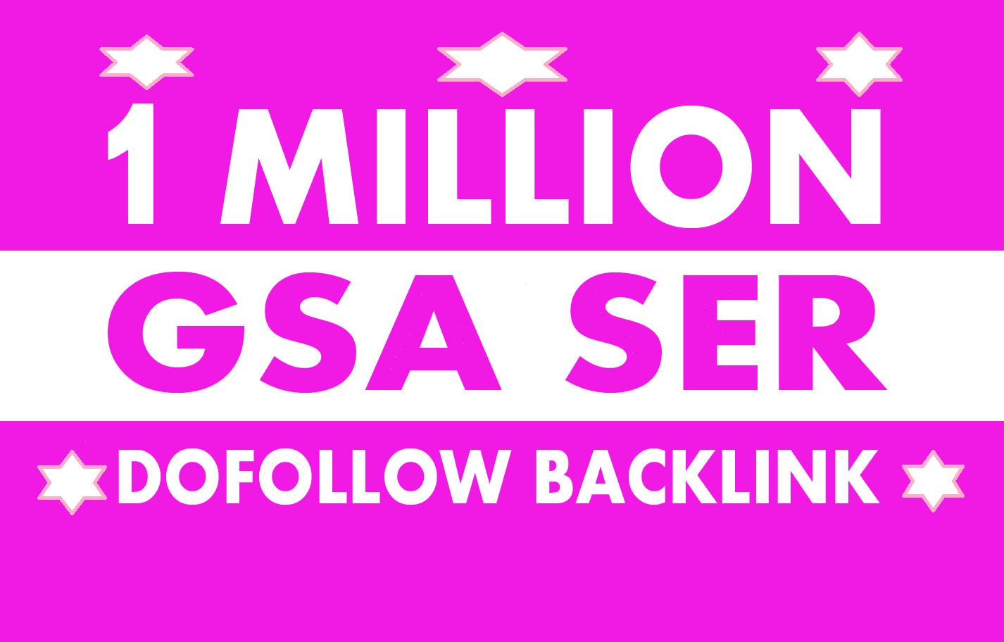 I will do GSA ser backlinks for website ranking in google