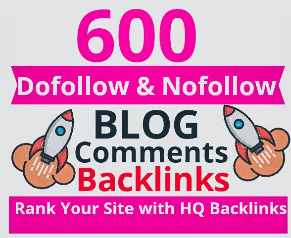 Manually Do High Authority 600 Dofollow and Nofollow Mix Backlinks