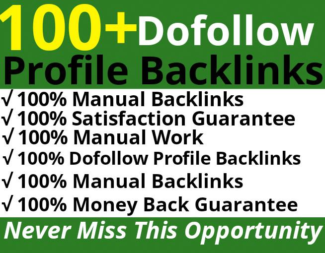 Manually Create PR9 DA 90 High Dofollow Profile Backlinks Link Building