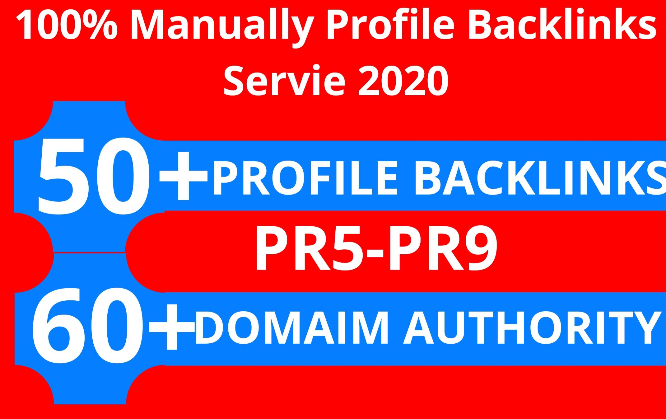 Manually Profile Backlinks Service DA 60+ PR5-PR9 Skyrocket Your Google Rankings