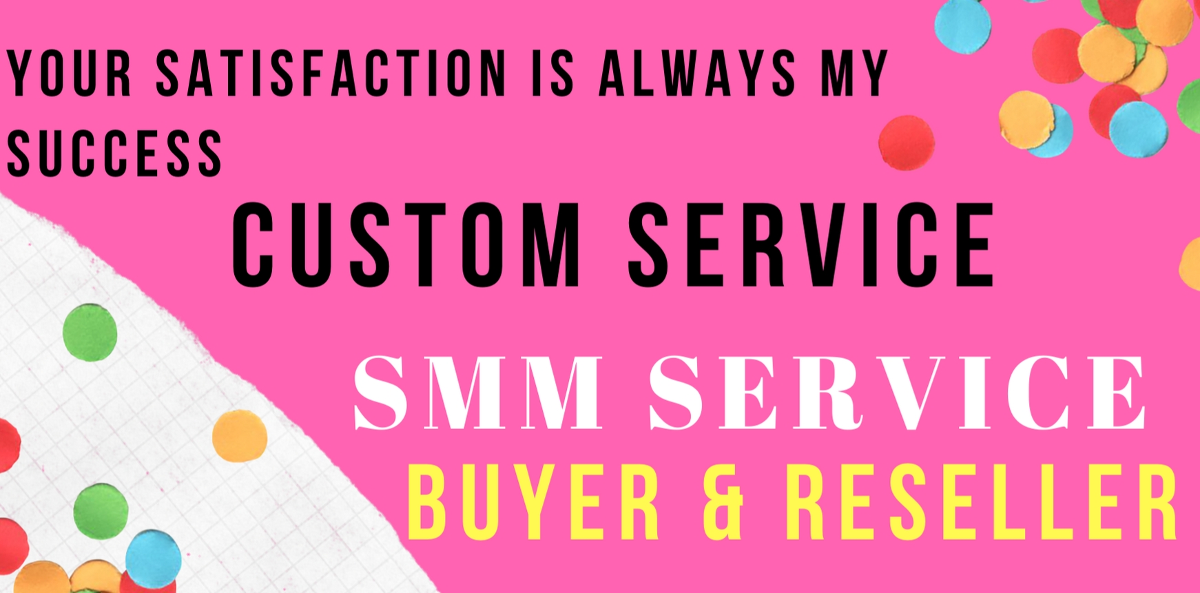 Custom Service For Our Social Media Marketing Services Buyer