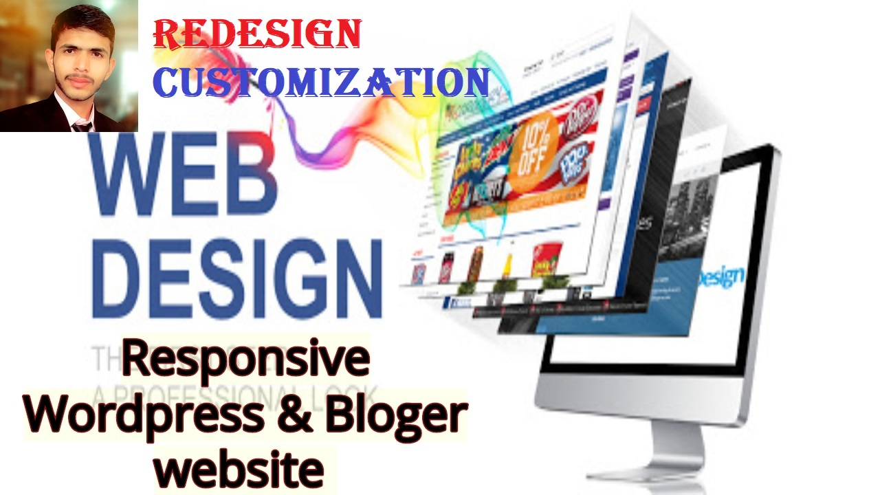 Create responsive WordPress website design & Customize