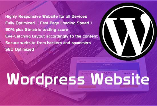I Will Create your WordPress Website