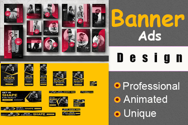 I will creative profession website banner ads,  web banners