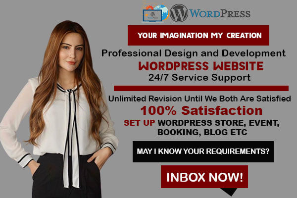 I will do wordpress website design and website development