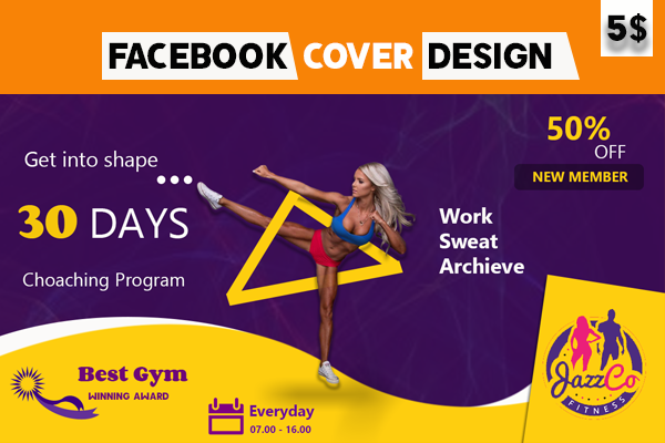 I will design mind blowing facebook cover photo