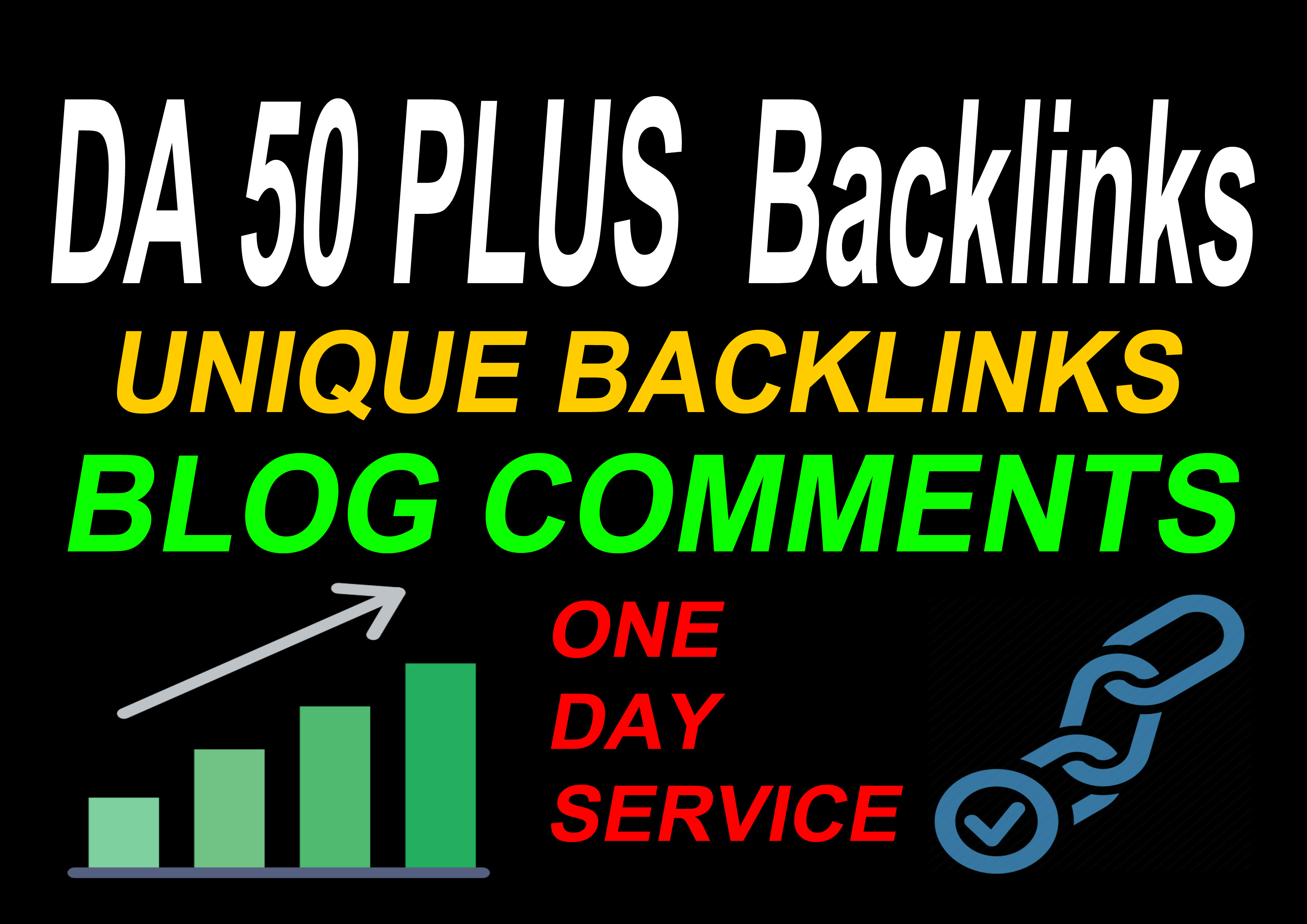 I Will Do 50 Plus DA With 42 Unique Backlinks