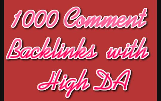 1000 Comment Backlinks with High DA