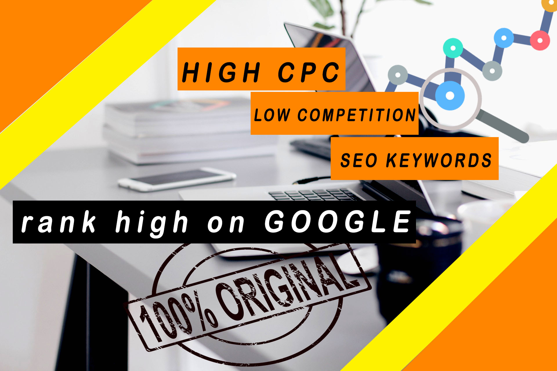 I will do high cpc,  low competition,  SEO keyword research for you