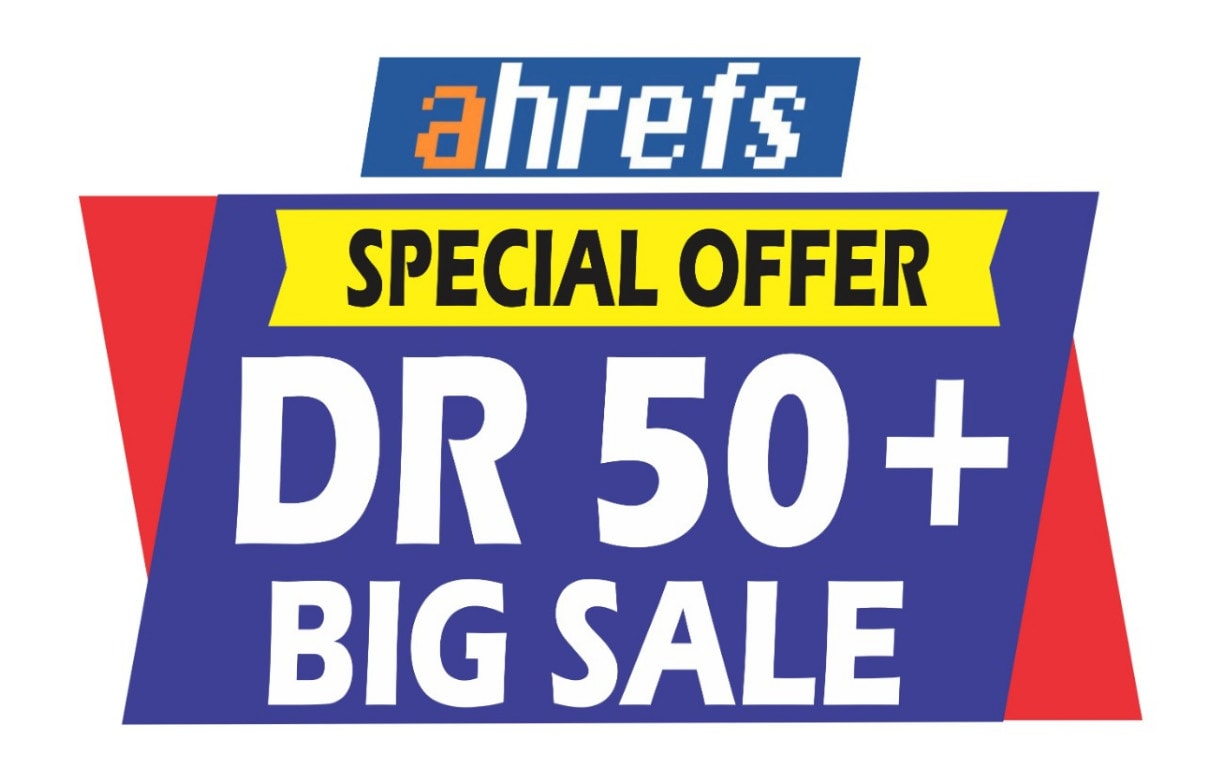 I will increase your website ahrefs domain rating DR 50 plus