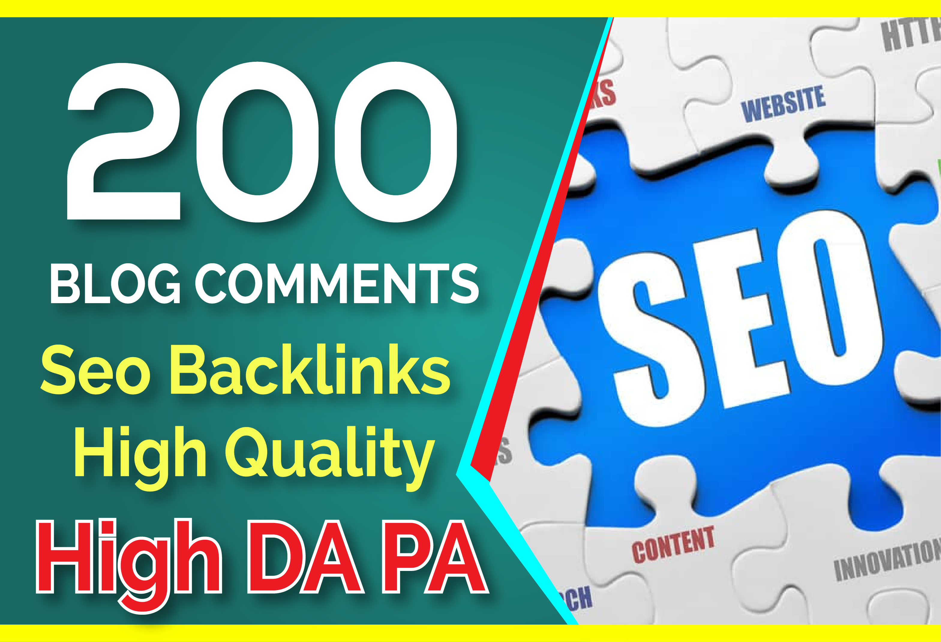 200 blog comments backlinks on high da pa