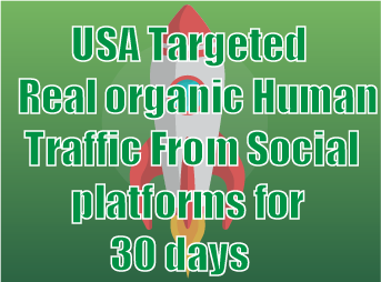 USA Targeted Real organic Human Traffic From Social platforms for 30 days
