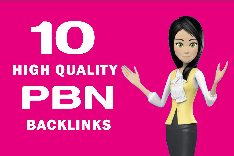 Build 10 High PA DA TF CF HomePage Dofollow High Quality PBN Backlinks For Google Ranking