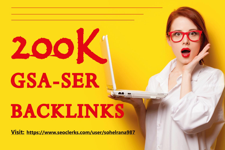 200k Powerful GSA SER Dofollow Backlinks For Fastest Google Ranking