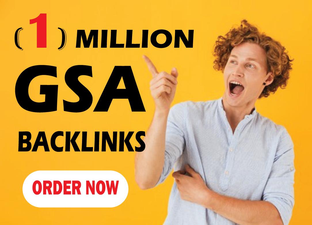 One million gsa ser backlinks for Faster Index