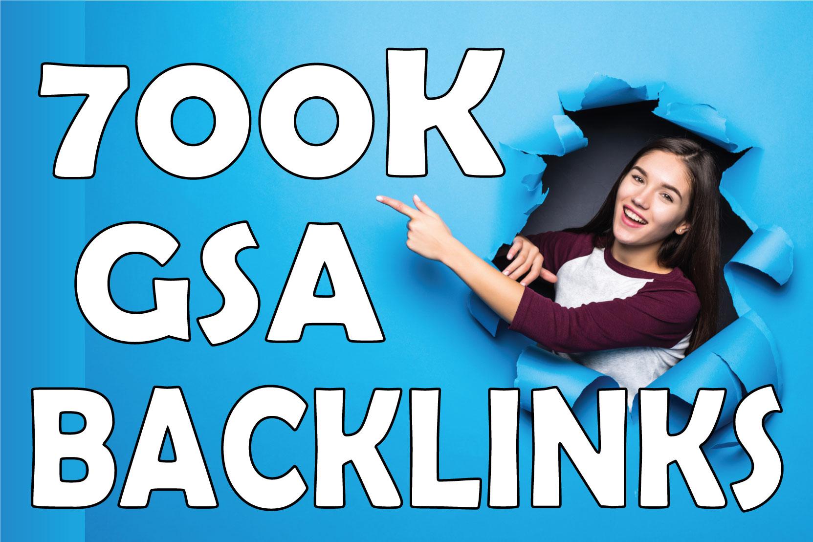 I will generate 700k GSA SER dofollow backlink for whitehat SEO