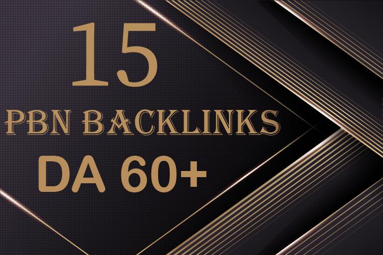 I will Build 15 Permanent Dofollow PBN Backlinks on High Authority DA 60+ Sites