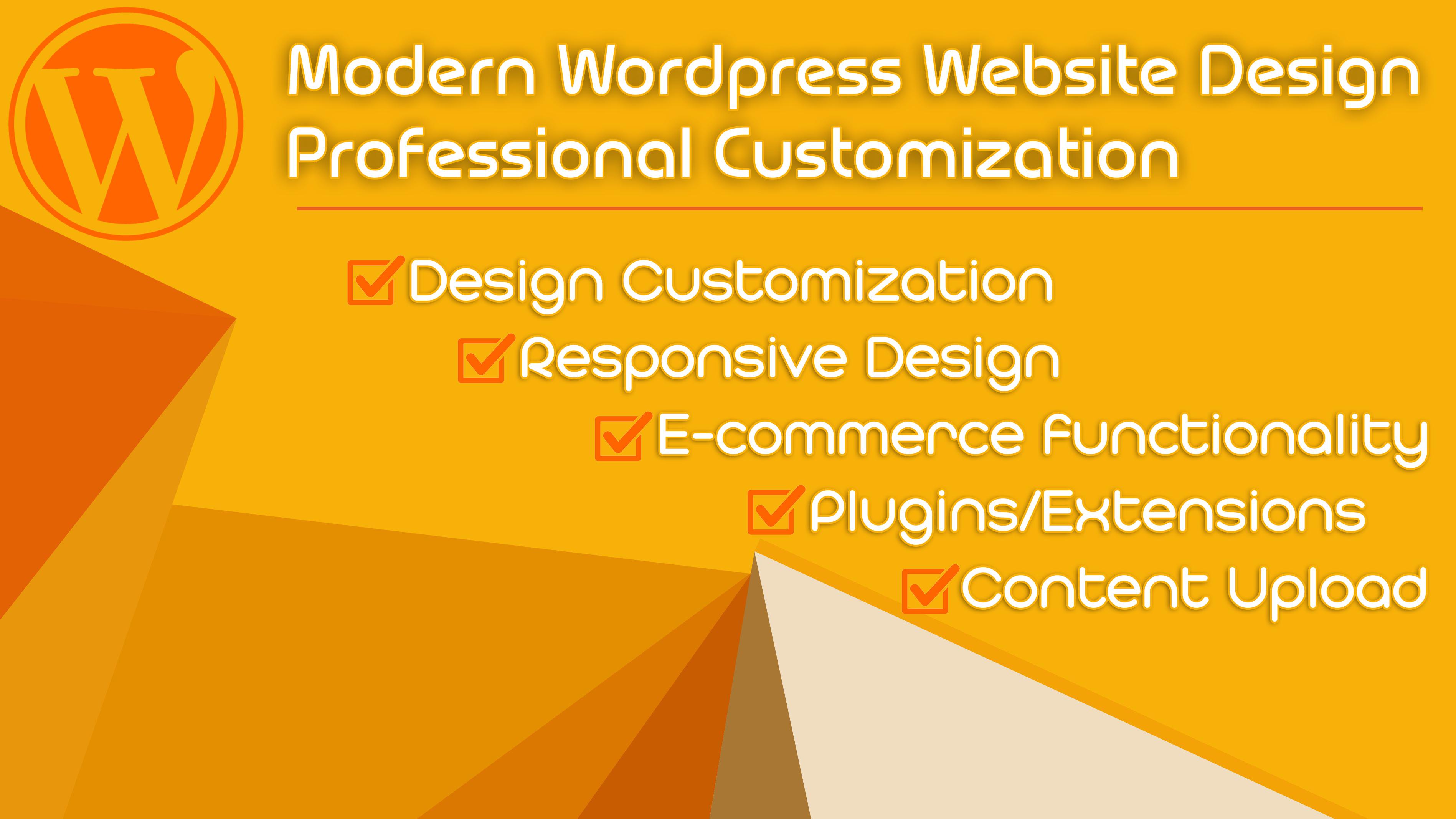 I will design modern wordpress website professional customized