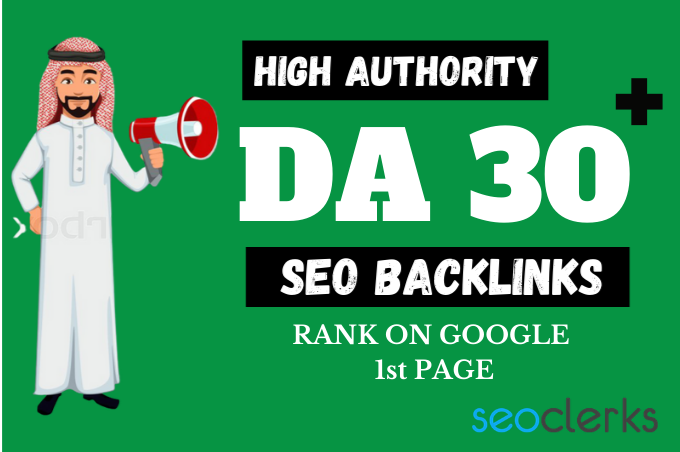500 High Authority DA 30 to 100 Backlinks - High DA SEO Backlinks To Skyrocket Your Google Rankings