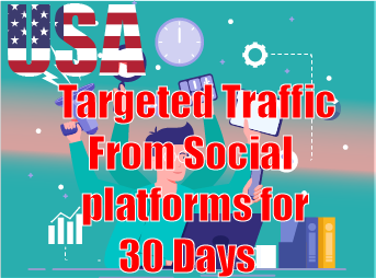 USA Targeted Traffic from social platfroms for 30 Days Non Stop 24/7