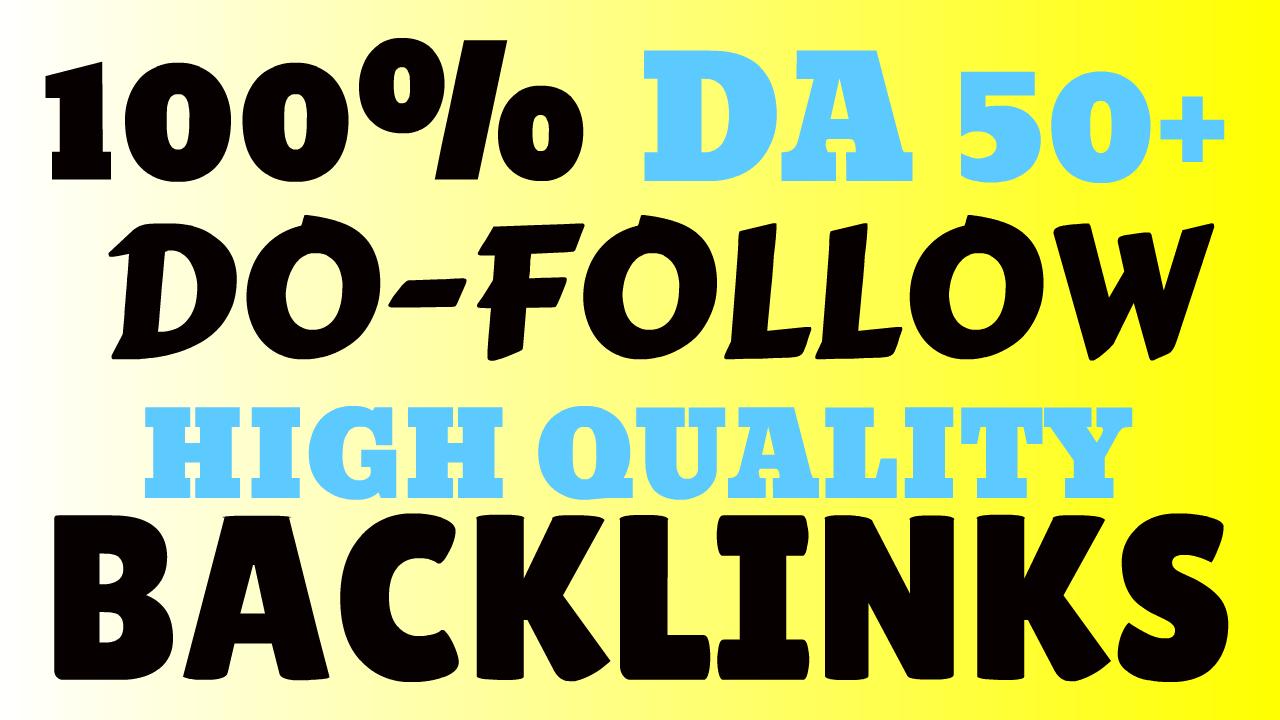 100 DA50+ DO-FOLLOW Links GET 20 High Domain Authority Links