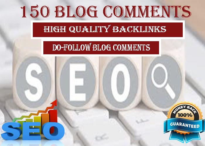 i will do 150 blog comments high DA PA Do follow backlinks