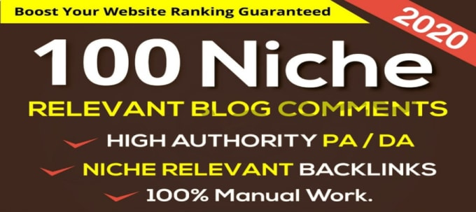 100 Niche Relevant Blog Comment Backlink High DA PA TF CF Authority
