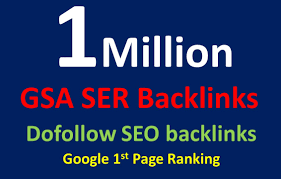 I will build 1 Million high quality dofollow SEO backlinks google top ranking