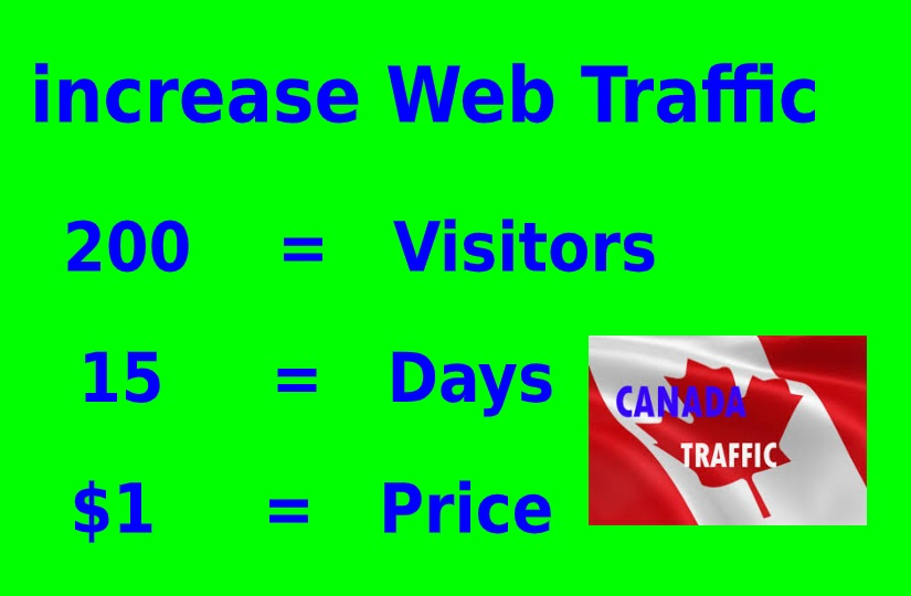 Drive unlimited traffic CANADA to your site, blog or product