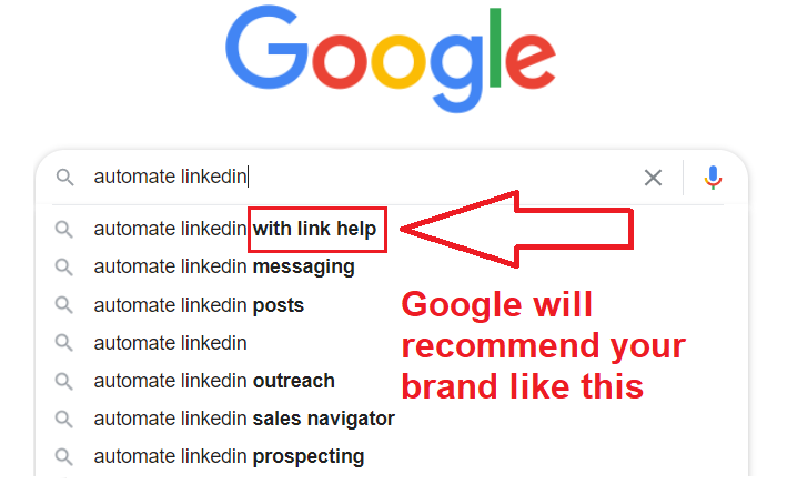 I Will Create a Google Suggestion For Your Brand