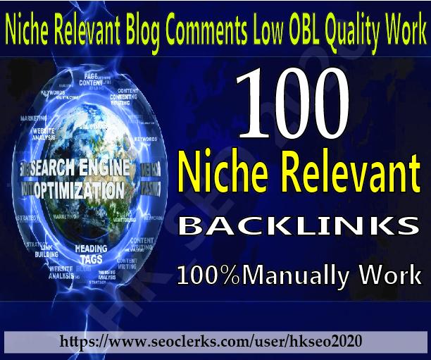 make 100 high quality niche relevant blog comments backlinks