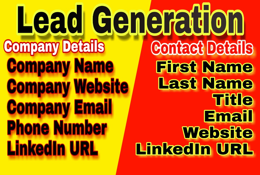 I will do lead generation and email list building
