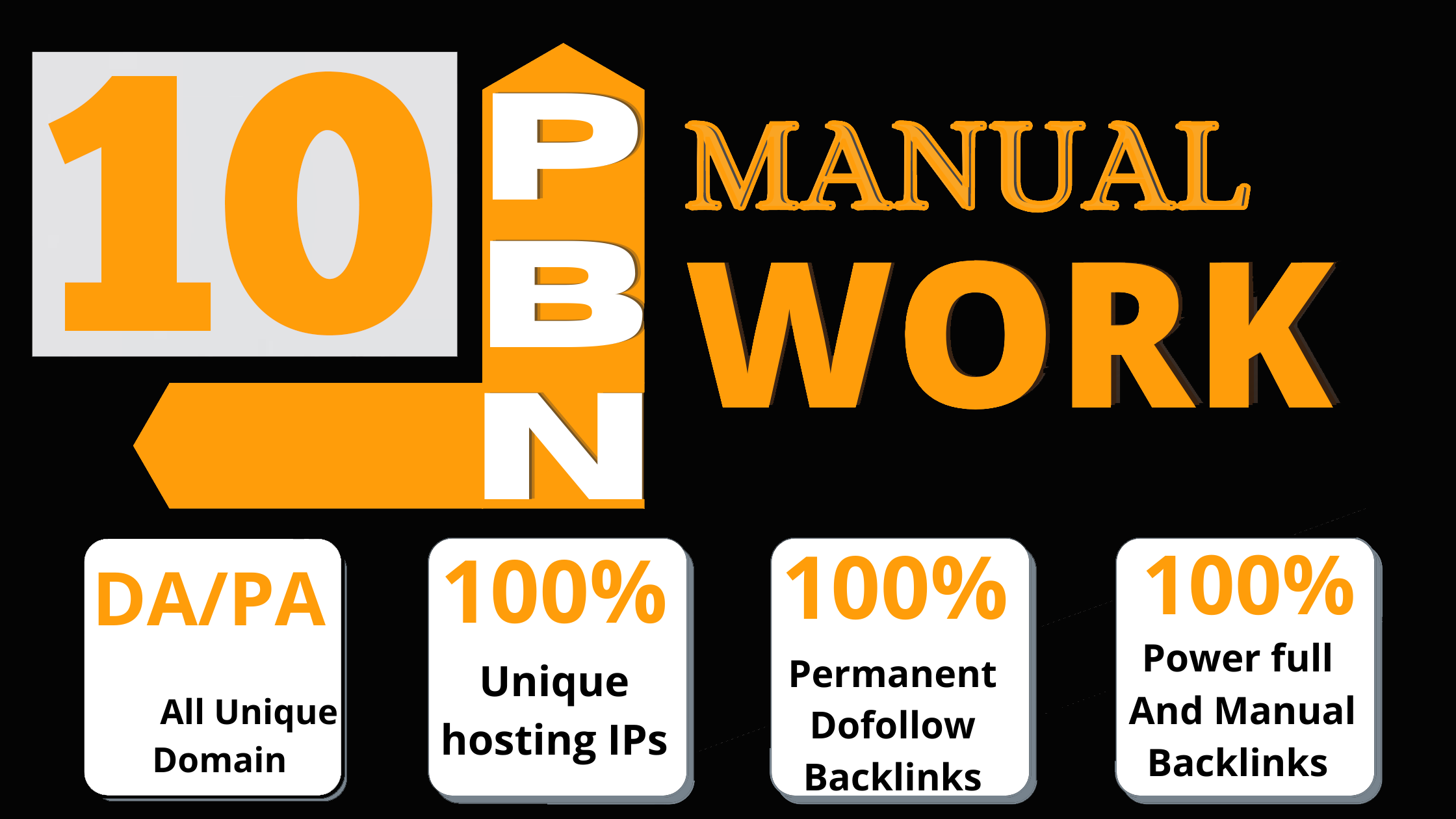 Get 10 High DA & PA Homepage DoFollow High-Quality PBN Backlinks With Manual Work & Spam Score Free