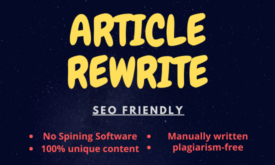 Rewrite your article and blog without spinners for unique content