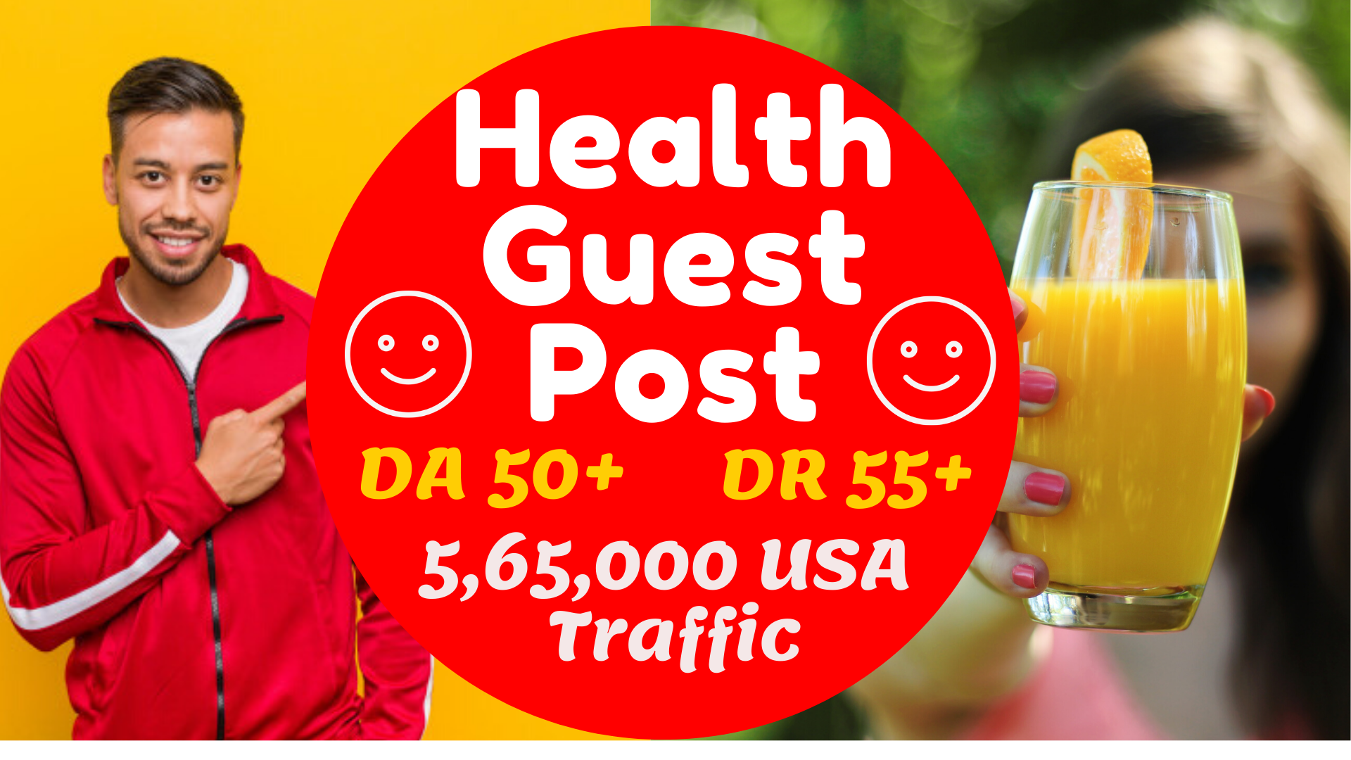 I will provide health guest link on DA 50 plus with backlinks
