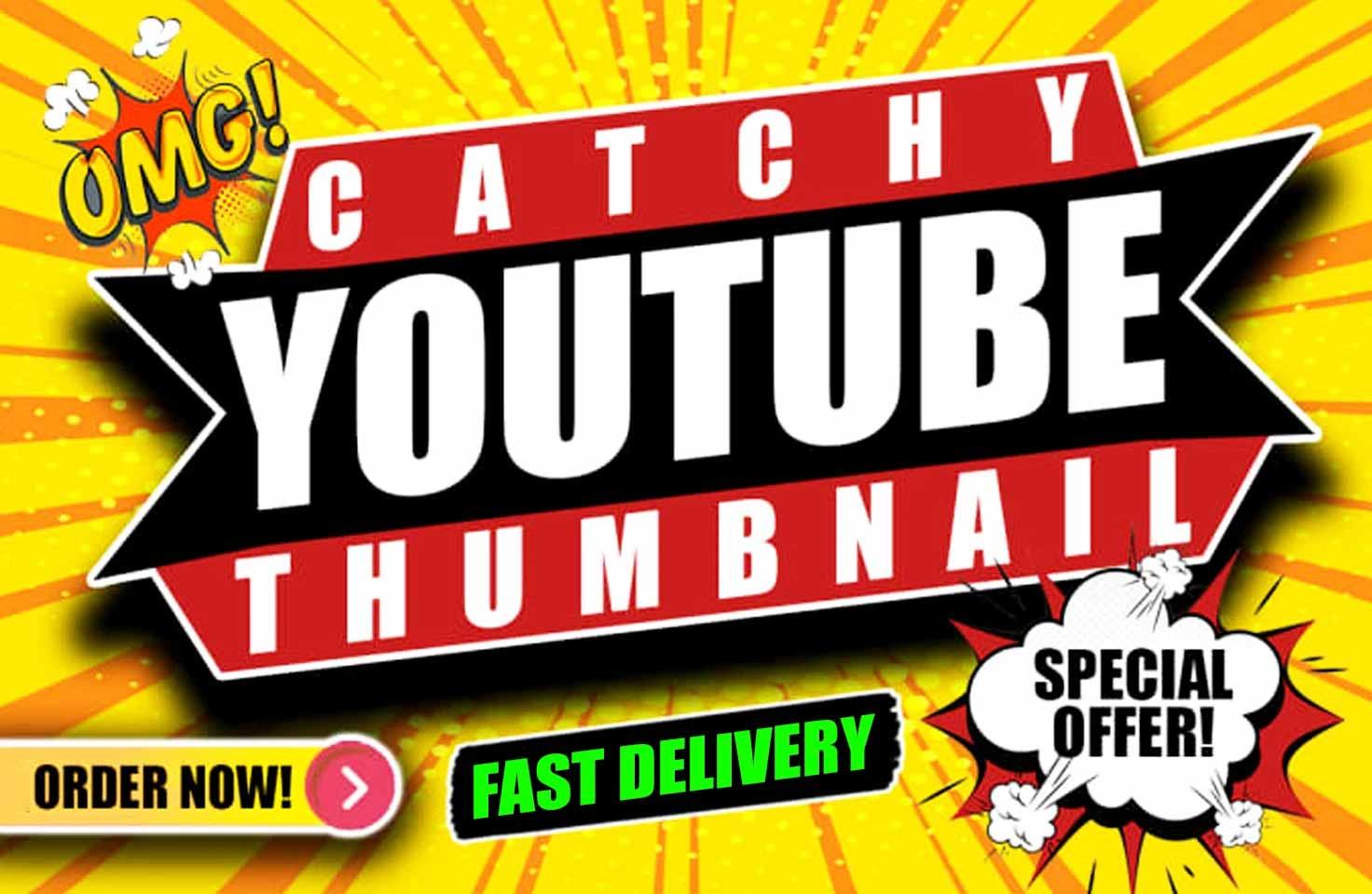 I will design eye catchy YouTube thumbnail