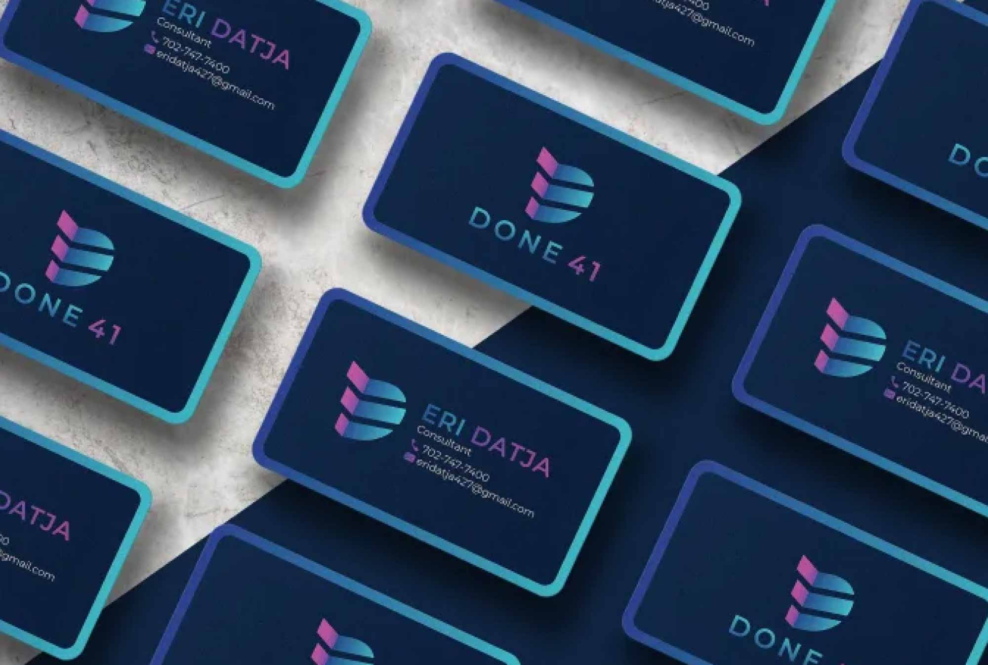 Design professional business card in 1 day