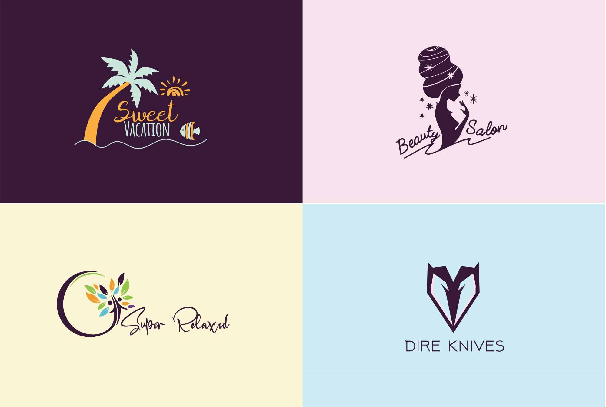 Design a unique modern logo with source file