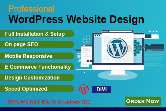 Create,  Build or Redesign responsive Wordpress websites professionally