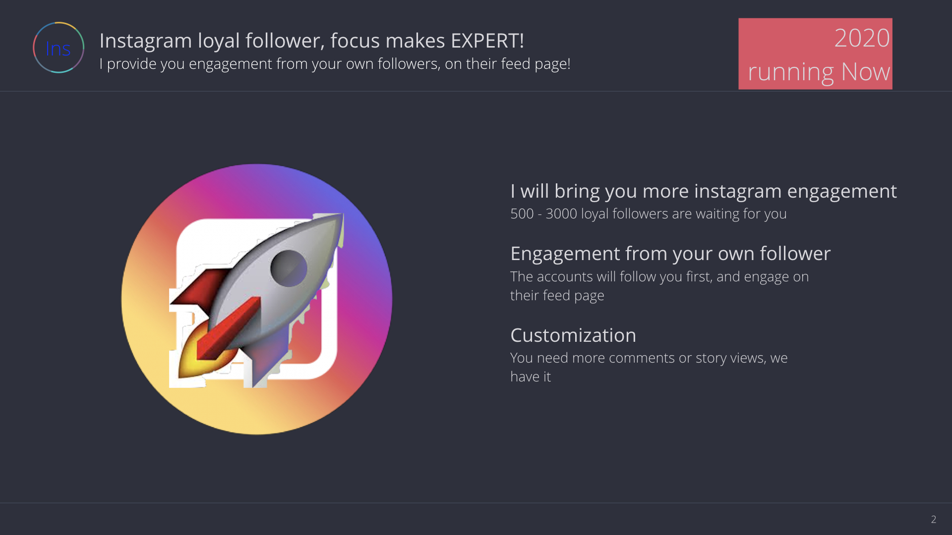 guarantee you more engagement on your ins from your own follower!