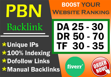 Build 20 High PA DA TF CF HomePage PBN Backlinks - Dofollow Quality Links