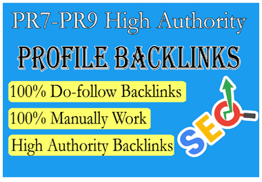 Get High Quality 20 Backlinks from PR7 to PR9